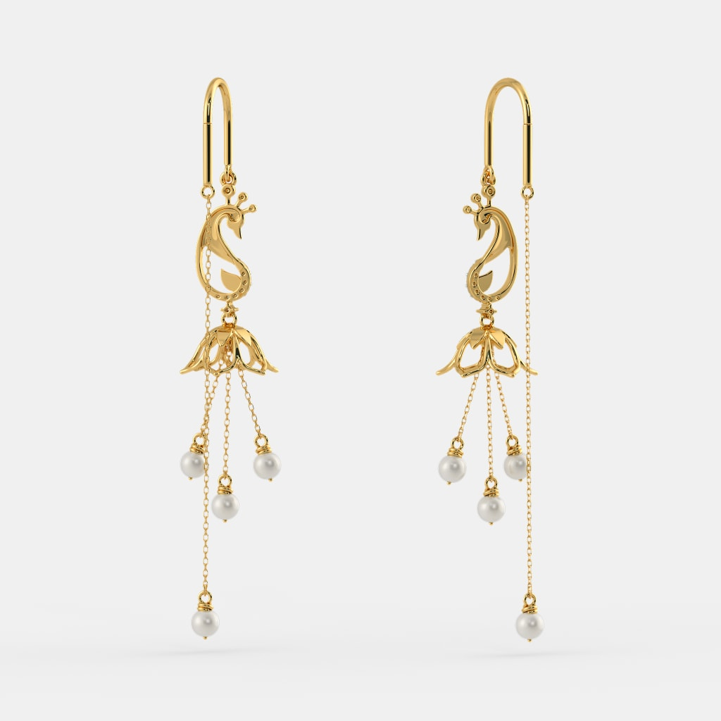 Gold Earrings New Designs With Price