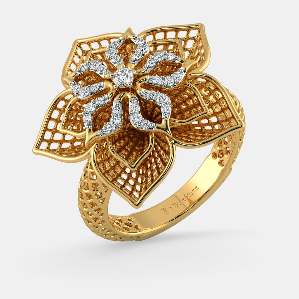 Rings  The Daffodil Lattice Ring | BlueStone.com