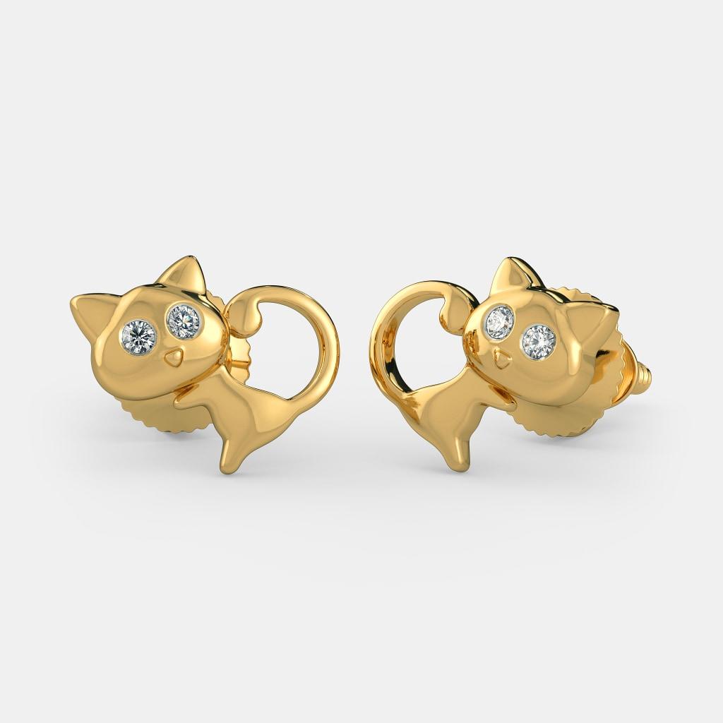 The Cute Meow Earrings For Kids | BlueStone.com