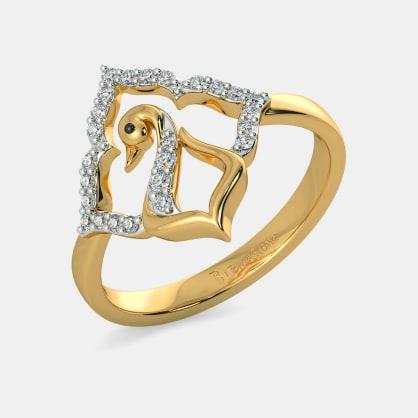 The Aqua Feather Ring