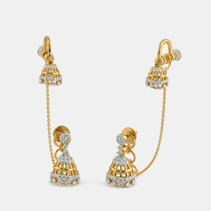 The Ervin Stud Chain Clips Earrings