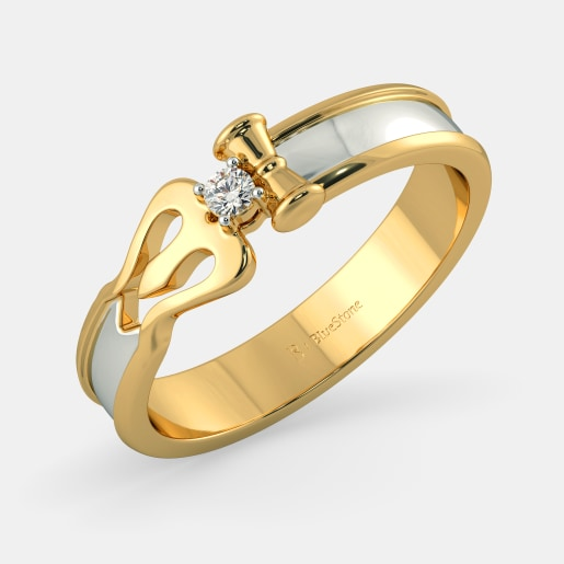 pics couple bluestone band buy for online gold bands in divine trishool jewellery the india ring rings designs him