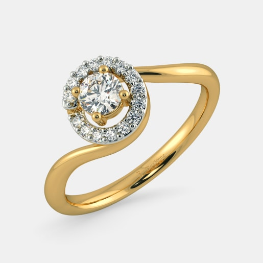 Diamond PreSet Solitaire Ring In Yellow Gold (2.86 Gram)