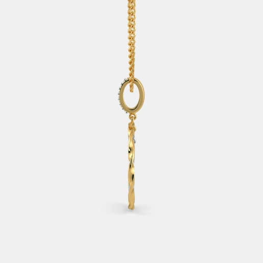 Diamond Pendant In Yellow Gold (2.32 Gram) With Diamonds (0.056 Ct)