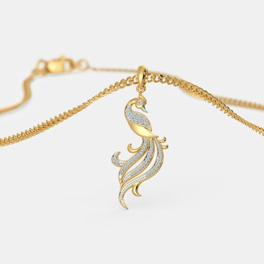 The Twirling Feather Pendant
