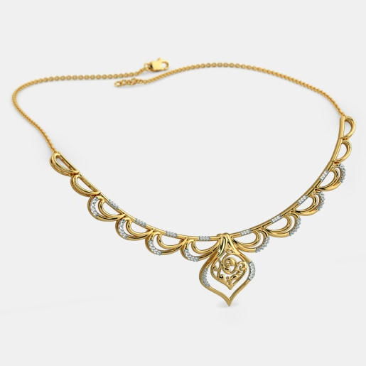 Buy 150 womens gold necklace designs online in india 2018 bluestone the sumiya necklace aloadofball