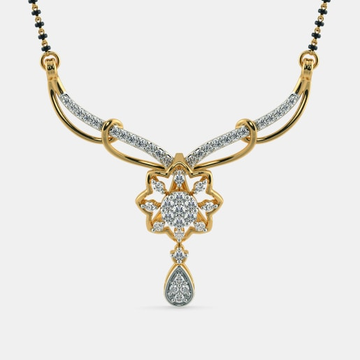 Diamond Mangalsutra In Yellow Gold (2.78 Gram) With Diamonds (0.406 Ct)