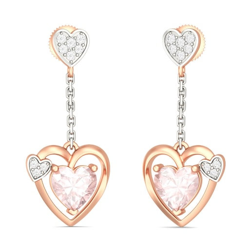 The Mariana Heart Earrings