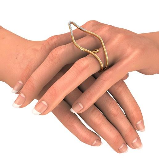 Diamond Ring In Yellow Gold (6.63 Gram) With Diamonds (0.220 Ct)