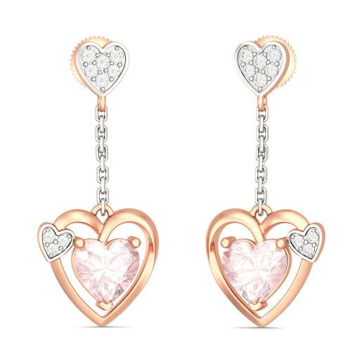 The Mariana Heart Earrings