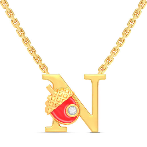 N for Nuts Necklace for Kids