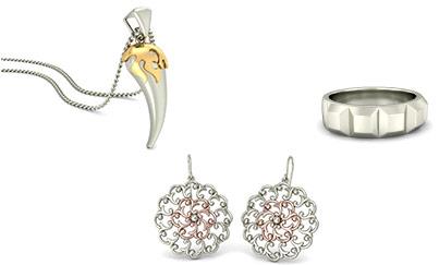 Plain White Gold Jewellery